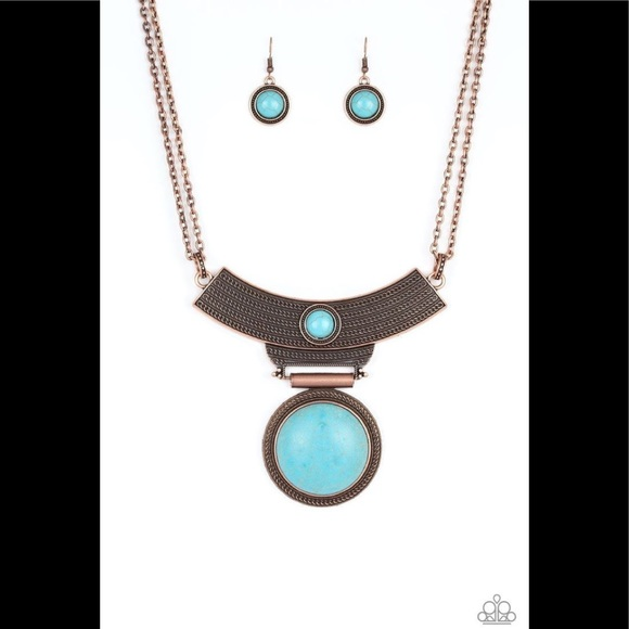 ✨3 for $10✨ Copper and turquoise necklace